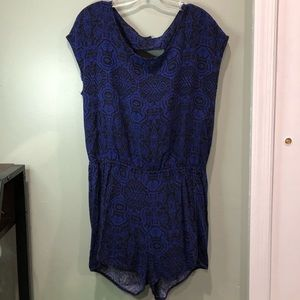 Black and Blue Romper by Ambiance Apparel